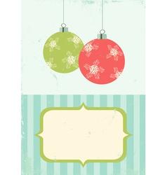 retro of christmas balls vector image