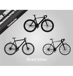 Road bikes vector
