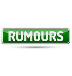 Rumors - abstract beautiful button with text vector