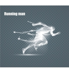 Running Man flying lightning vector