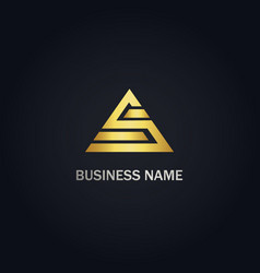 s triangle sign logo vector image