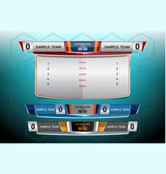 Scoreboard broadcast and lower thirds vector
