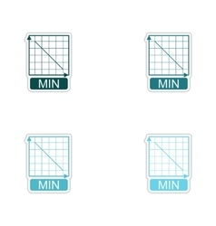 Set of paper stickers on white background schedule vector