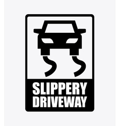 slippery driveway vector image