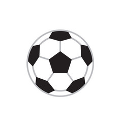 soccer ball - concept icon in flat design graphic vector image