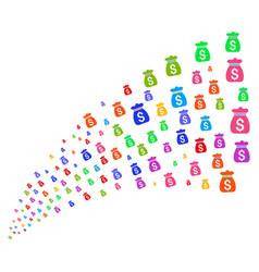 Source stream of money bag vector
