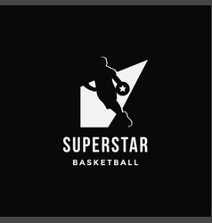 spotlight basketball logo icon vector image