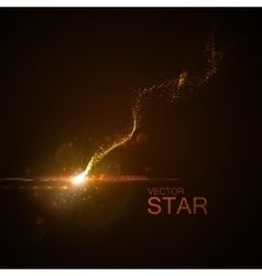 star with glowing trail vector image