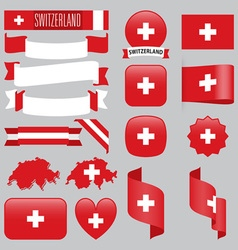Switzerland flags vector image