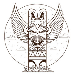 Totem ancient beliefs and cults vector