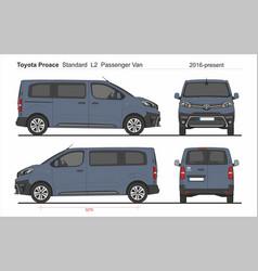Toyota proace pass standard van l2 2016-present vector