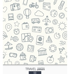 Travel wallpaper black and white trip seamless vector
