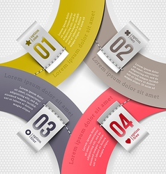 Infographics elements with numbered labels vector image vector image