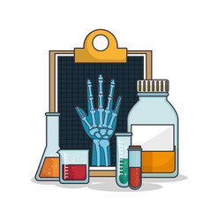 medical healthcare flat icons vector image