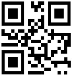 Qr code says Thank you vector image
