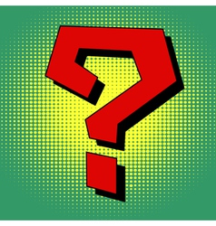 Question mark in pop art style vector image vector image