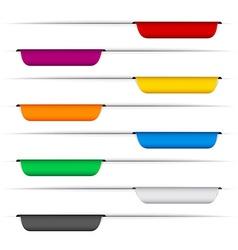 Color paper labels vector image
