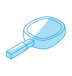 magnifying glass 3d vector image vector image