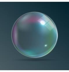 Transparent Bubbles on Dark Blue Background vector image vector image