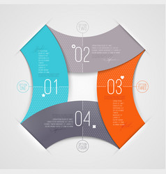 Abstract infographics with numbered elements vector image