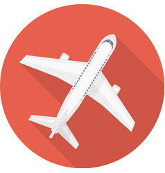 Airplane icon red vector image vector image