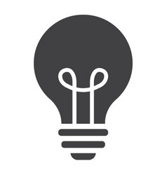 light bulb solid icon lamp and idea light vector image