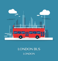 london bus at museum in english design vector image vector image