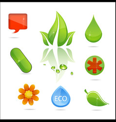medic and nature signs vector image vector image