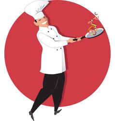 Stir fry vector image