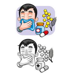 cartoon allergy template vector image vector image