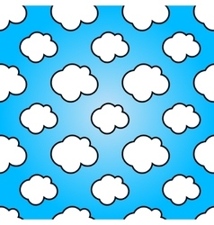 Clouds in blue sky Nature sunny summer background vector image