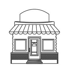 colorful store facade icon vector image vector image