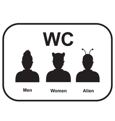 Male and female alien restroom vector image