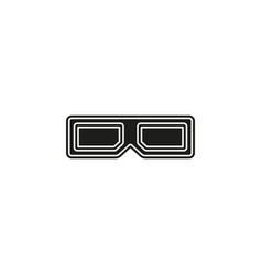 3d glasses icon - movie cinema vector image