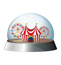 A dome with carnival inside vector