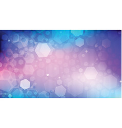 Abstract background hexagonal glare on cosmic vector