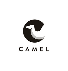 Abstract letter c for camel logo icon template vector