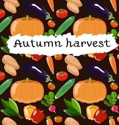 Autumn harvest pattern vector