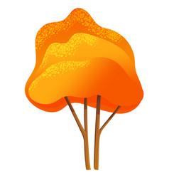 Autumn tree icon isolated symbol nature wood vector
