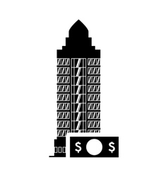 Bill hotel building silhouette design vector