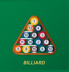 billiard or snoker background good design vector image