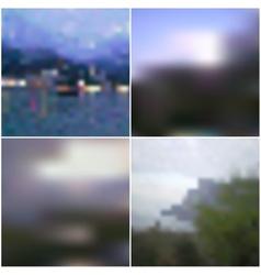 Blur landscape backgrounds Editable vector image