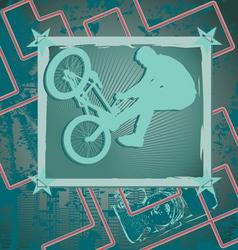 bmx vintage frame vector image