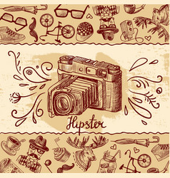 Camera background vector