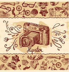 camera background vector image