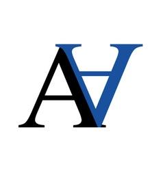 Capital A and N logo vector