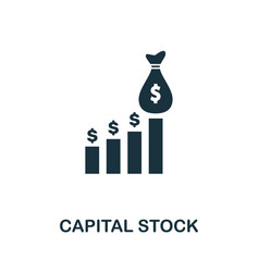 capital stock icon creative element design from vector image