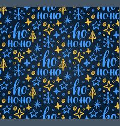 christmas seamless pattern with ho ho-ho vector image