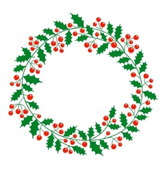 Christmas wreath with place for your text vector image