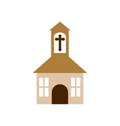 Church religion christianity icon vector